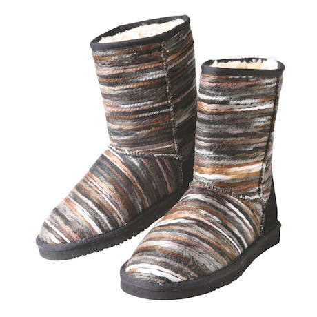 Smokey Stripe Fleece Lined Boot