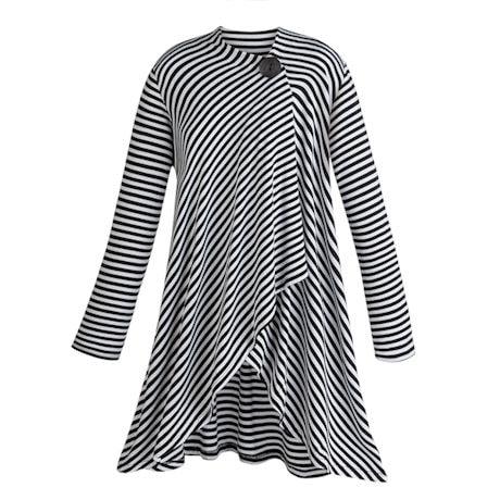 Striped Wrap Jacket