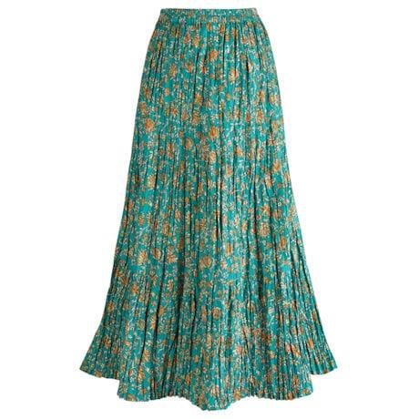 Traveler's Reversible Long Cotton Skirt