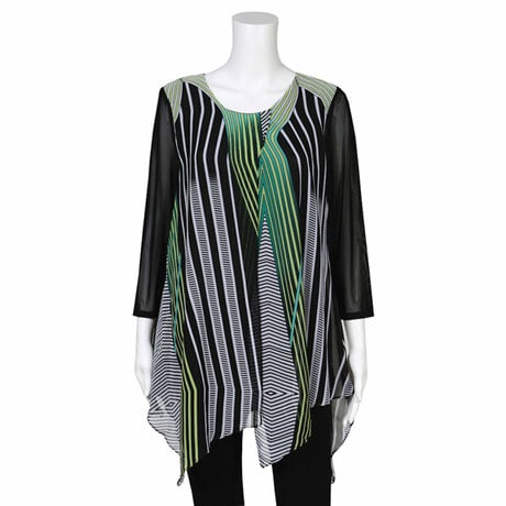 Clover Leaf Layered Tunic Top