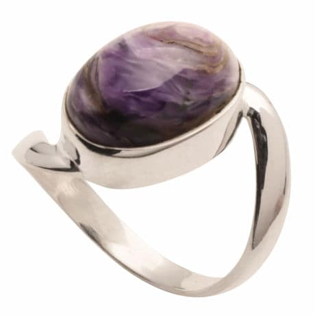 Charoite And Sterling Ring