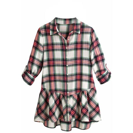 Pink Plaid Exceptional Tunic Top