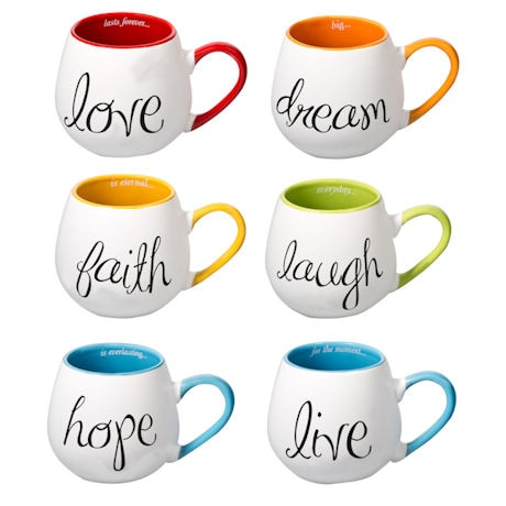 Inspired Color Mugs Set