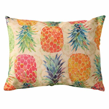 Pineapple Marmalade Outdoor Pillow