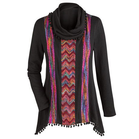 Black And Forever Bright Tunic Top