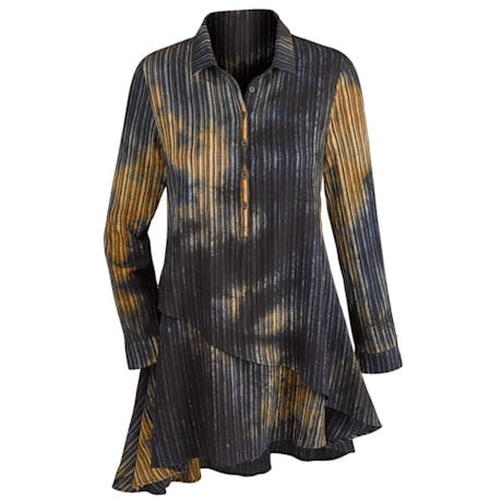 Glorious Pleat Shirted Tunic Top