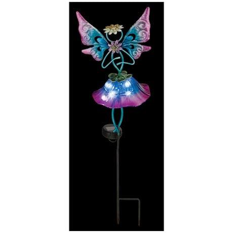 Solar Bellflower-Fairy Garden Stakes
