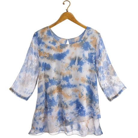 Soft Clouds Chiffon Tunic Top