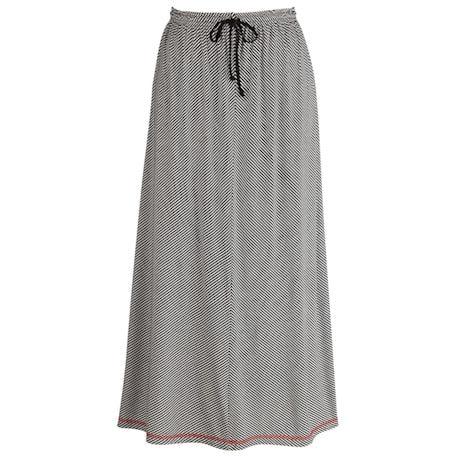 Positive Negative Stripe Skirt