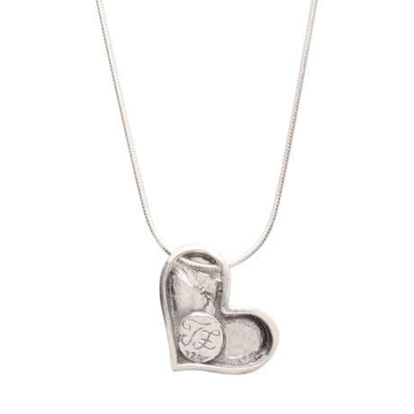 In My Heart Sterling Pendant