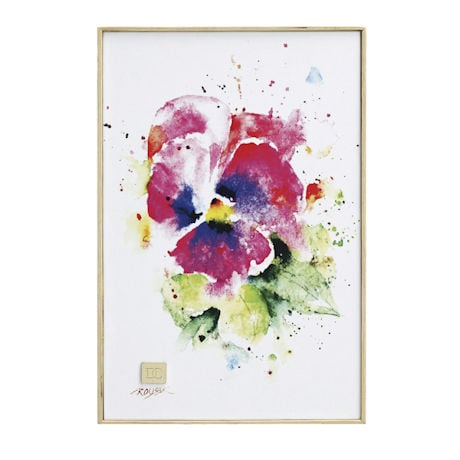 Watercolor Florals Wall Art - Pansy