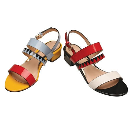 Op-Art Patent Sandals