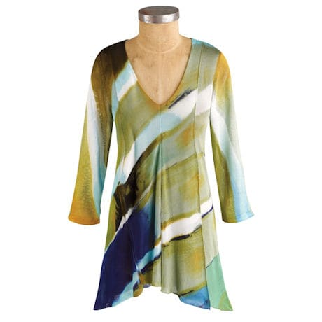 Hand-Painted Brilliant Layers Tunic