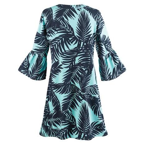Palms Ruffle Sleeve Tunic