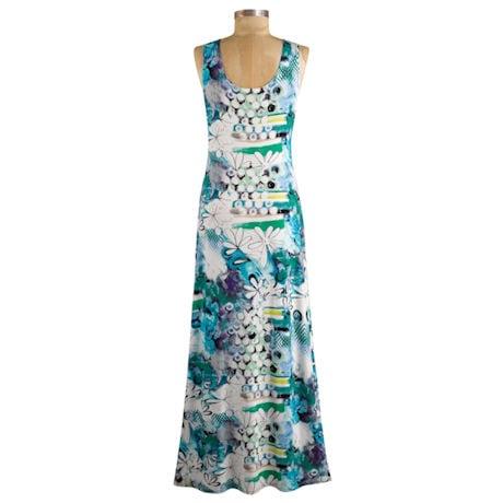 Grapevine Print Maxi Dress