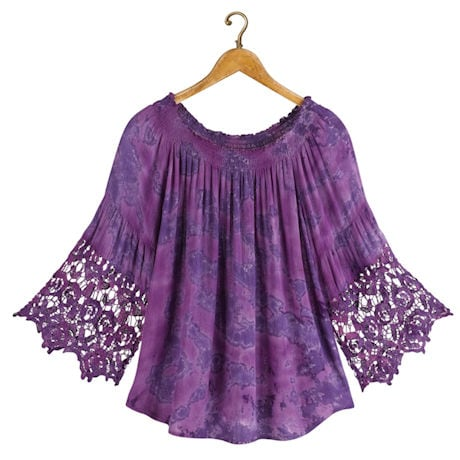 Purple Ombre Festival Crochet Top