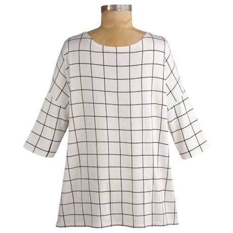 Bamboo Windowpane Check Tunic