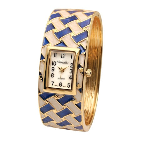 Basketweave Bangle Watch