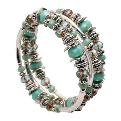 Turquoise Memorywire Wrap Bracelet