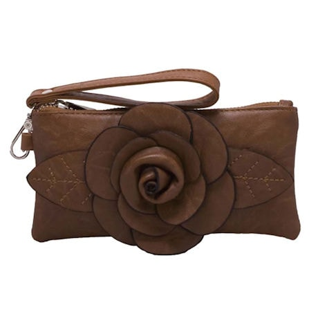Raised Rosebud Wristlet