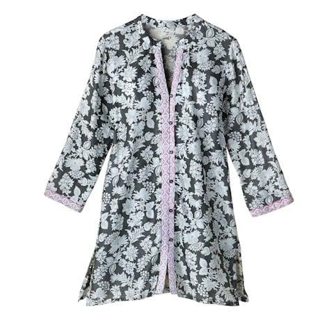 Evening Shade Button-Front Sleepshirt