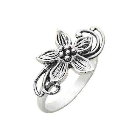 Flower Dancer Sterling Ring