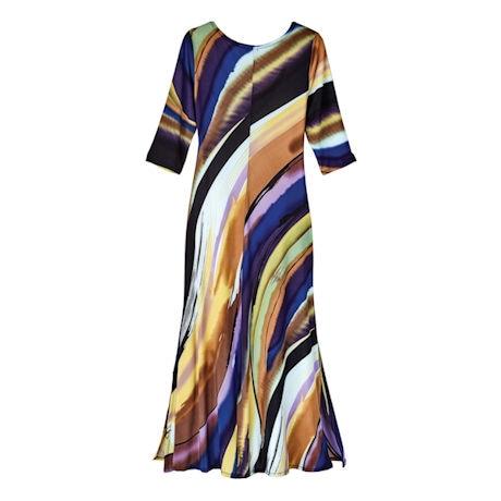 Canyon Sky ¾ Sleeve Maxi Dress