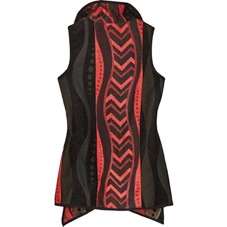 Reversible City Walk Tapestry Vest