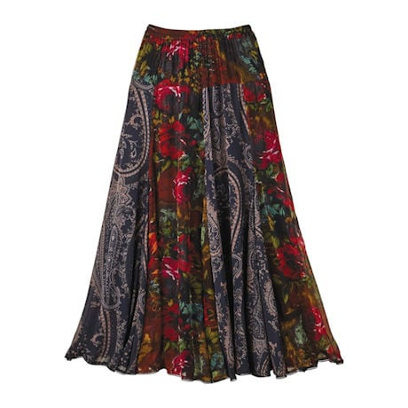 Midnight Garden Skirt 'N Scarf Set