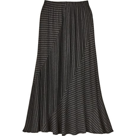 Charcoal Stripe Maxi Skirt