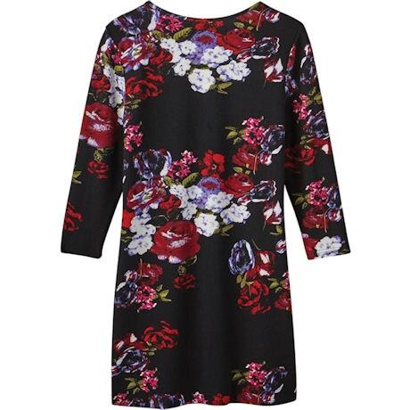 Rose Regalia Brushed Knit Dress