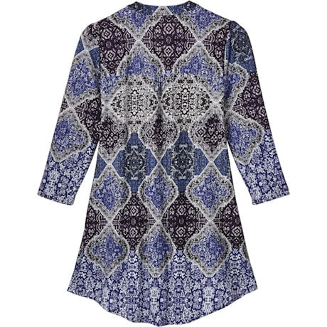 Royal Paisley Pleated Front Tunic