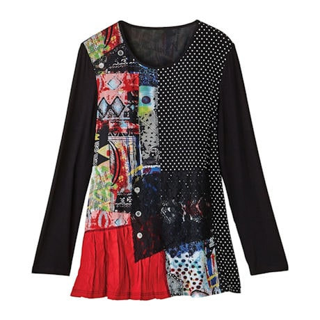 Patched Patterns Tunic