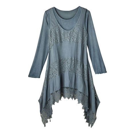Dusty-Miller Knit Tunic Set
