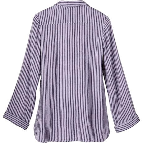 Yarn Dyed Stripe Button-Front Tunic