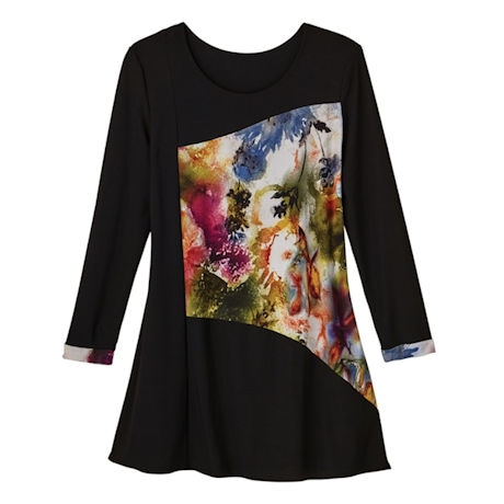 Watercolor Inset Artwear Tunic