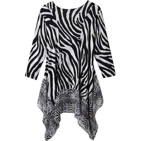 Black And White Safari Tunic