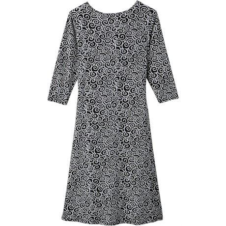 Simple Swirls A-Line Dress