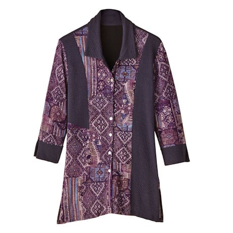 Plum Pieces Shirt Tunic