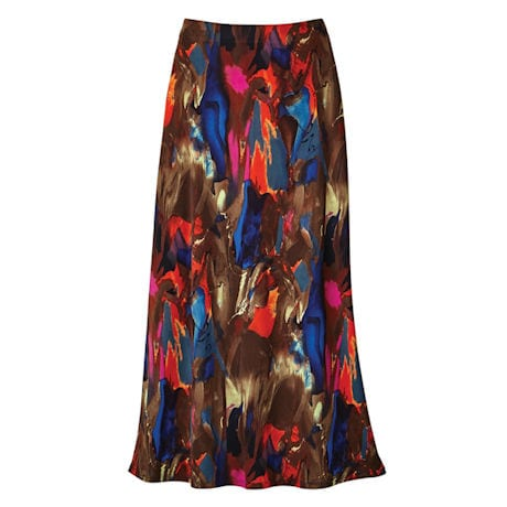 Brushstrokes Maxi Skirt