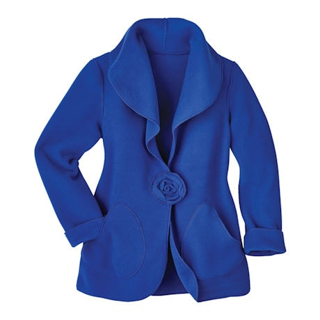 Sapphire Fleece Rosette Blazer