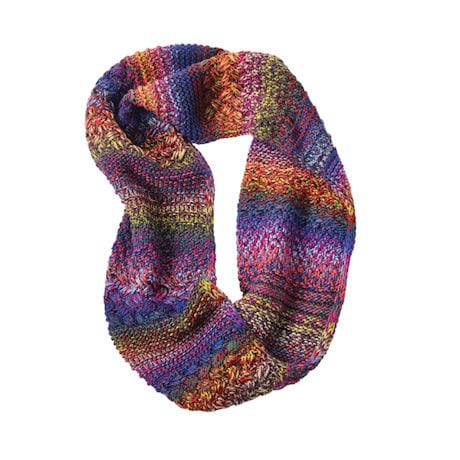 Mixed-Stitch Sparkly Infinity Scarf