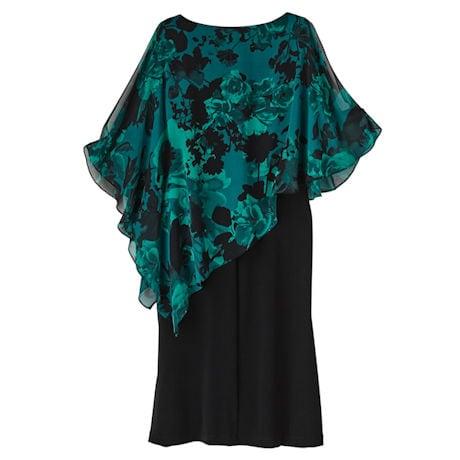 Floral Capelet Party Dress
