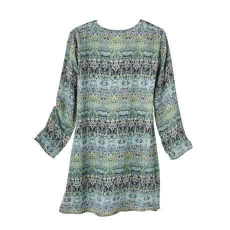 Emerald Green Stained-Glass Silk Tunic