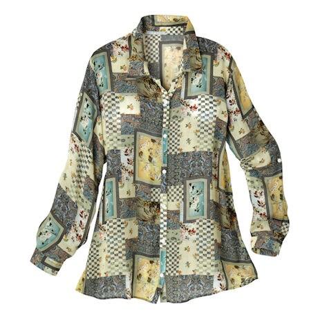 Smokey Pastel Patchwork Big Shirt