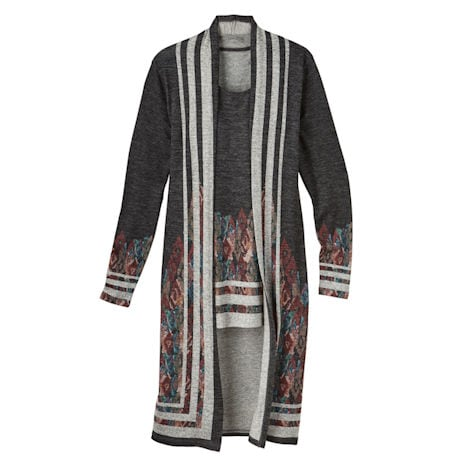 Parisian Print Duster With Tank