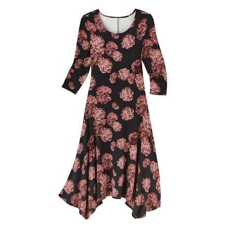 Floating Hydrangea Knit Maxi Dress