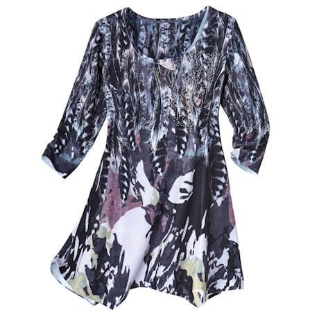 Feathers Infatuation With Bling Tunic