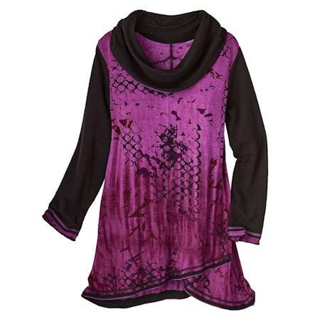 Moonlit Purple Cowl Tunic