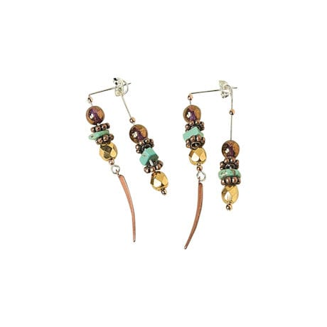 Copper River Front-Back Earrings
